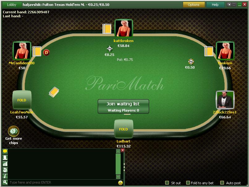 Париматч покер