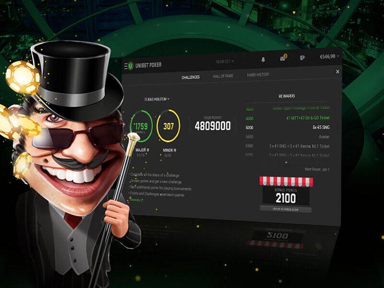 types of games in the poker room Unibet Poker