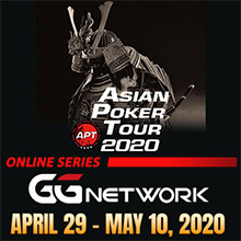 Asian Poker Tour will be held Online at poker rooms network GGNetwork.