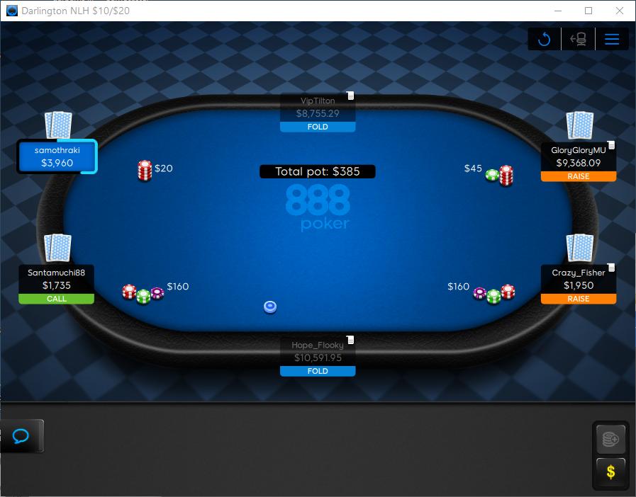 Рум комната в 888 Poker