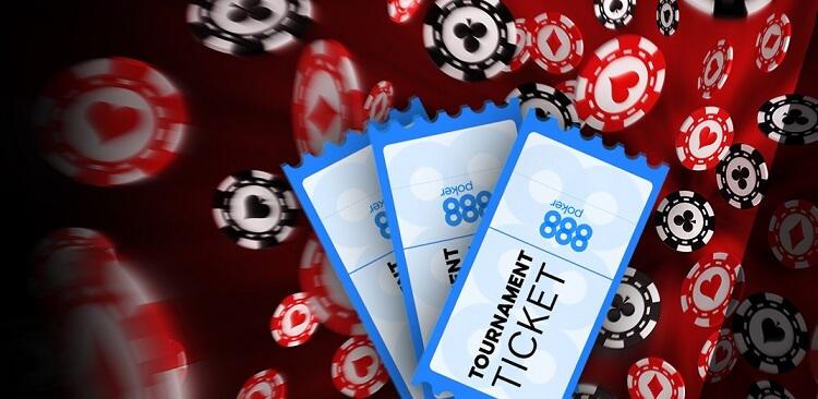 Турнирные билеты на 888 Покер